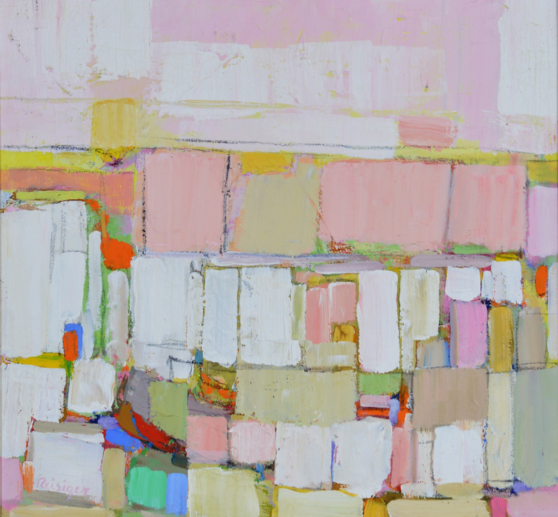 Village Pink and Yellow #254, 1981