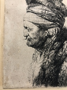 REMBRANDT HARMENSZ. VAN RIJN (1606-1669) AFTER JAN LIEVENS (1607-1674), The Second Oriental Head Etching, 1635