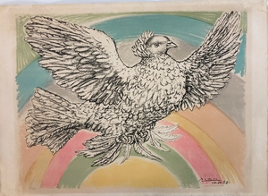 Pablo Picasso (1881-1973) Rainbow Dove of Peace