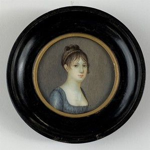 Early 19th Century Miniature Portrait of a Woman